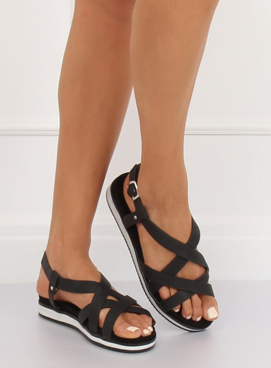 Sandałki damskie czarne 1499 BLACK