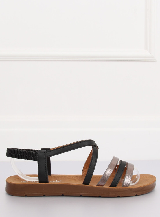 Sandałki damskie czarne 2220 BLACK