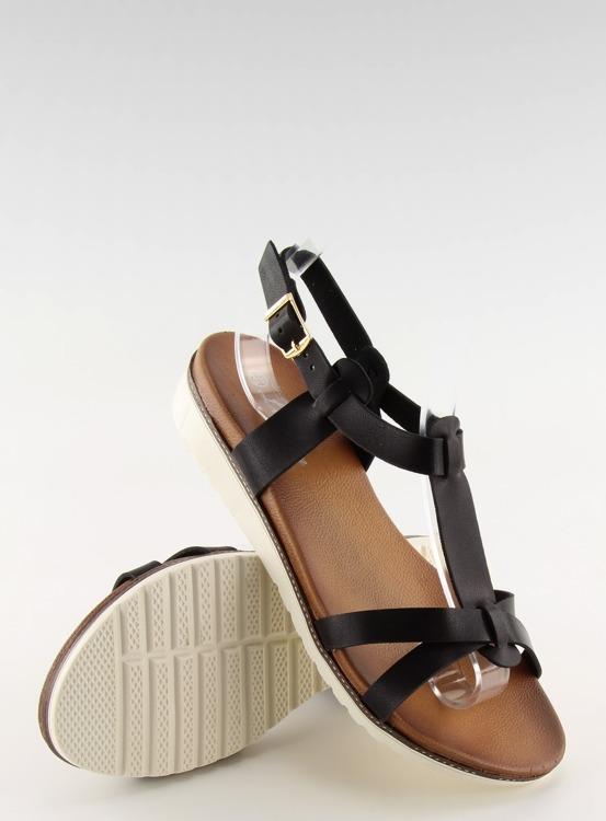 Sandałki damskie czarne C1822 BLACK