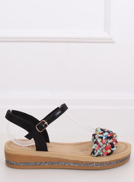 Sandałki damskie czarne CK151P BLACK