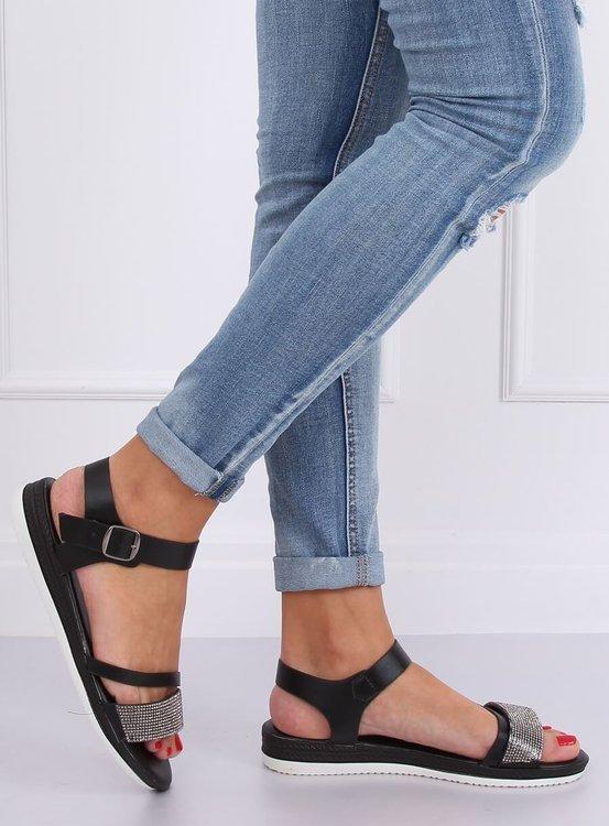 Sandałki damskie czarne D-118 BLACK