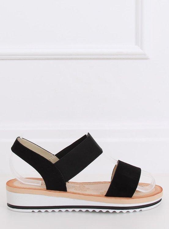 Sandałki damskie czarne E008 BLACK