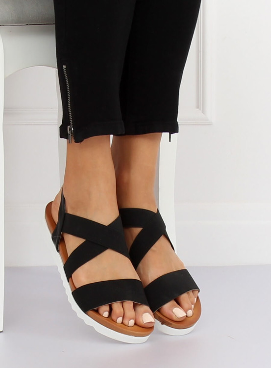 Sandałki damskie czarne P0P1268-16 BLACK