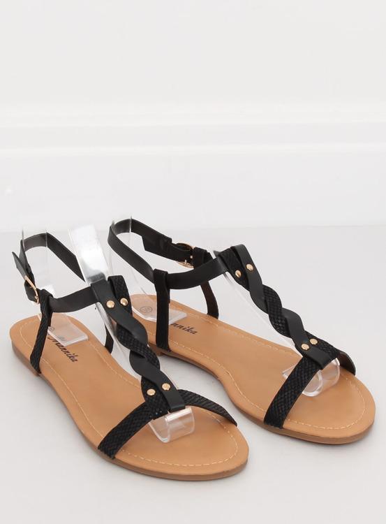 Sandałki damskie czarne S060071 BLACK