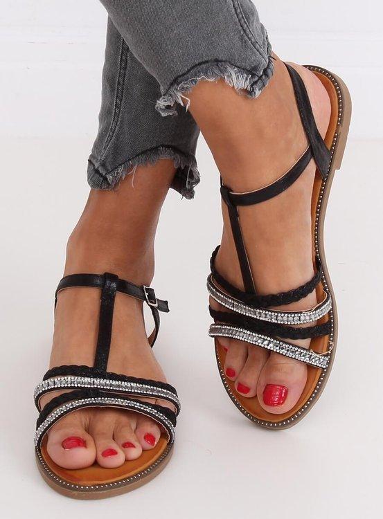 Sandałki damskie czarne S060123 BLACK