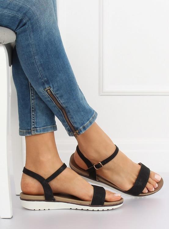 Sandałki damskie czarne S18-33 BLACK