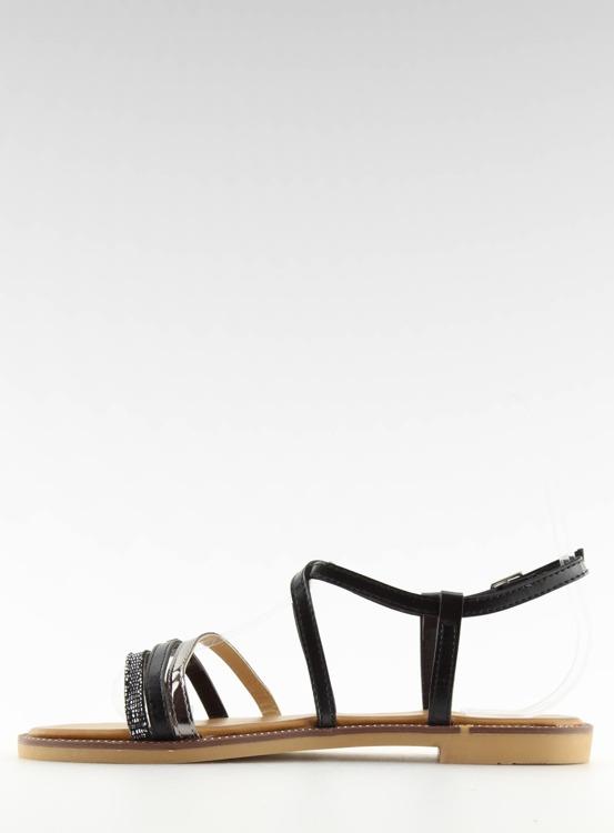 Sandałki damskie czarne S57 BLACK