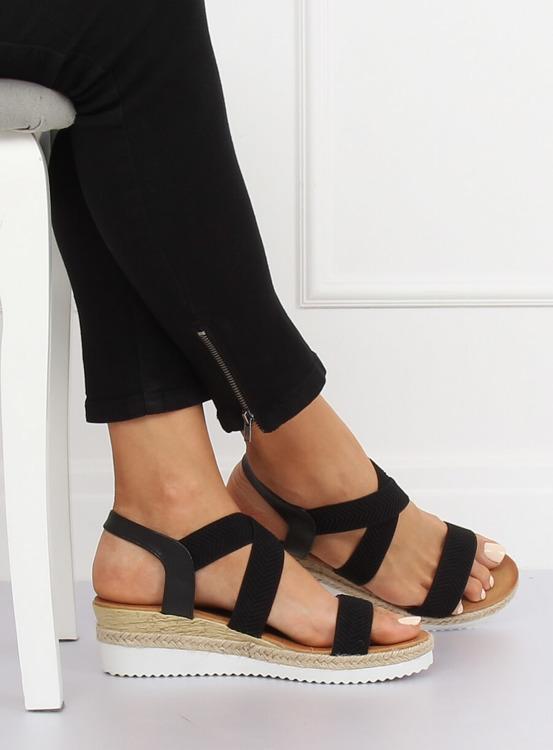 Sandałki damskie czarne S81 BLACK