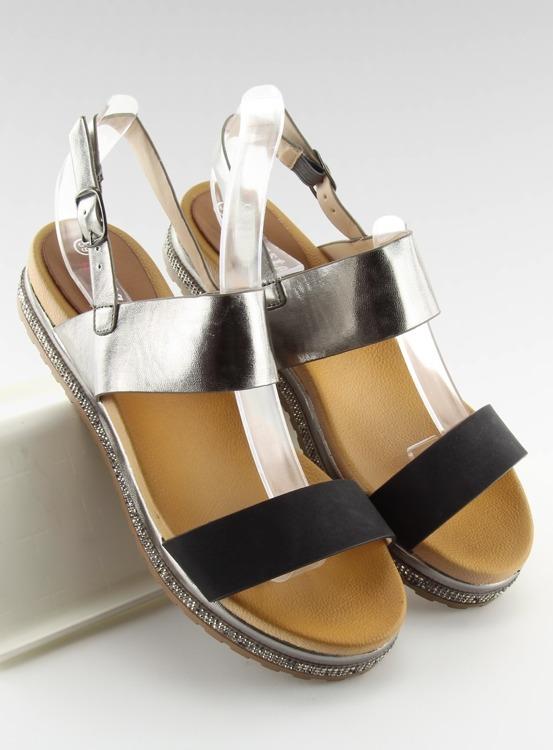 Sandałki damskie czarne SL88P BLACK
