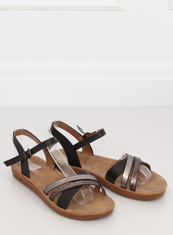 Sandałki damskie czarne TS-9 BLACK