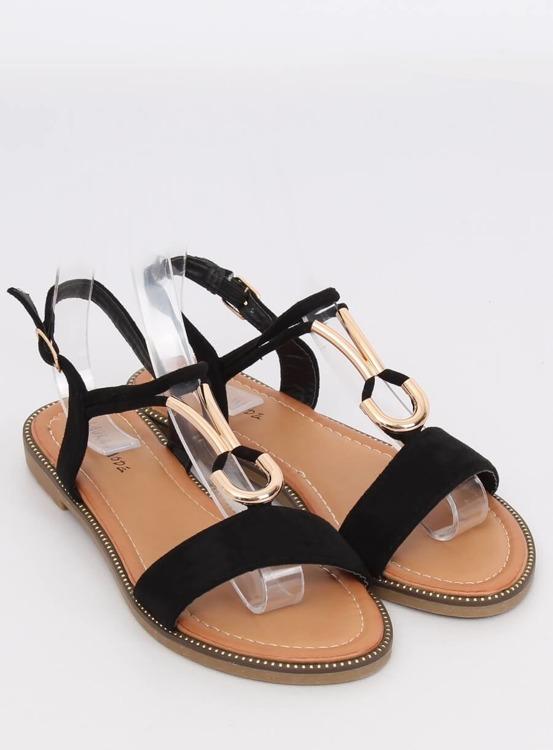 Sandałki damskie czarne WL024 BLACK