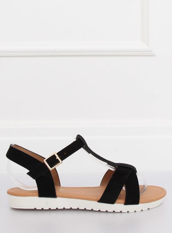 Sandałki damskie czarne X567 BLACK