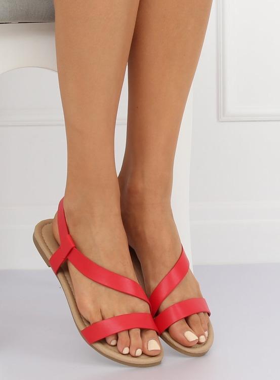 Sandałki damskie czerwone 938 RED