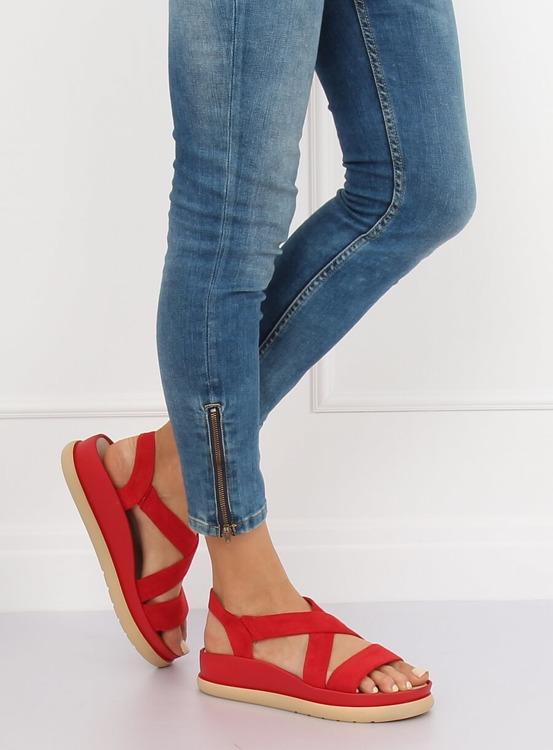 Sandałki damskie czerwone G-199 RED