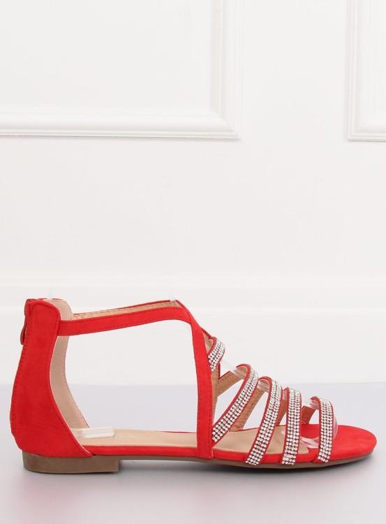 Sandałki damskie czerwone LL6339 RED