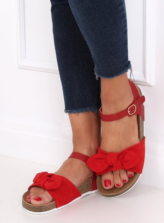 Sandałki damskie czerwone TL8-2 RED