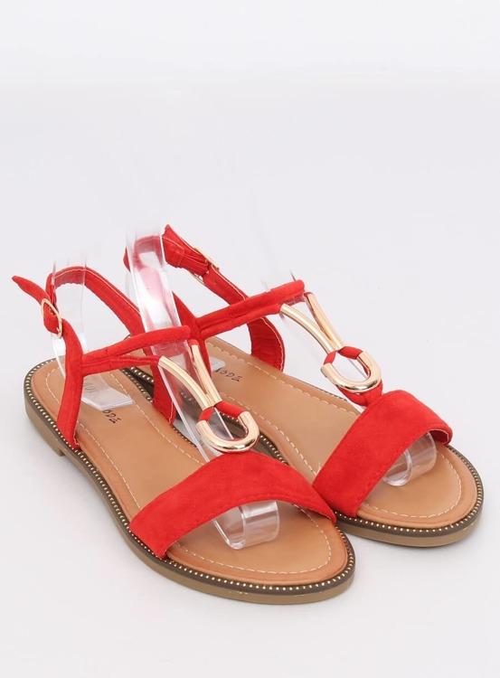 Sandałki damskie czerwone WL024 RED