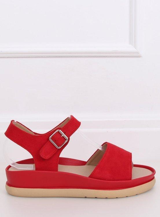 Sandałki damskie czerwone YJ860 ROSOO