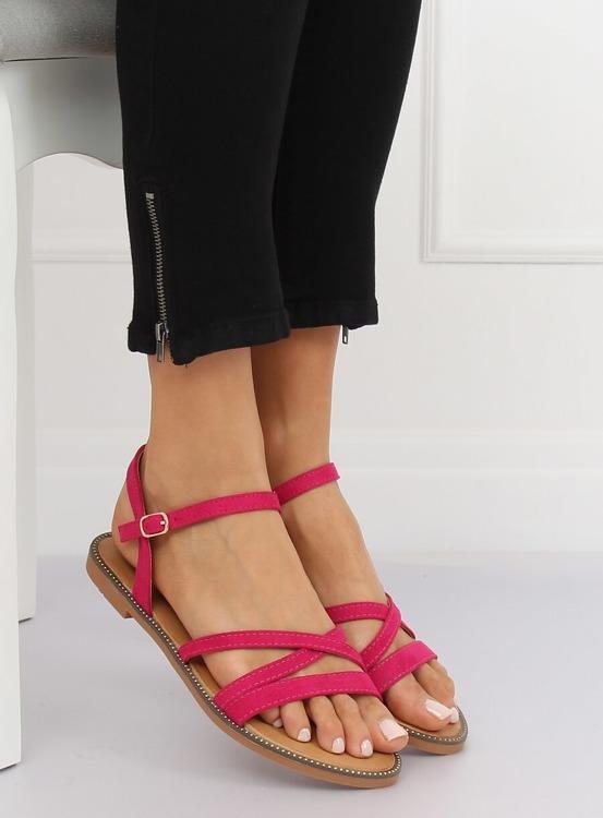 Sandałki damskie fuksjowe S55 ROSERED