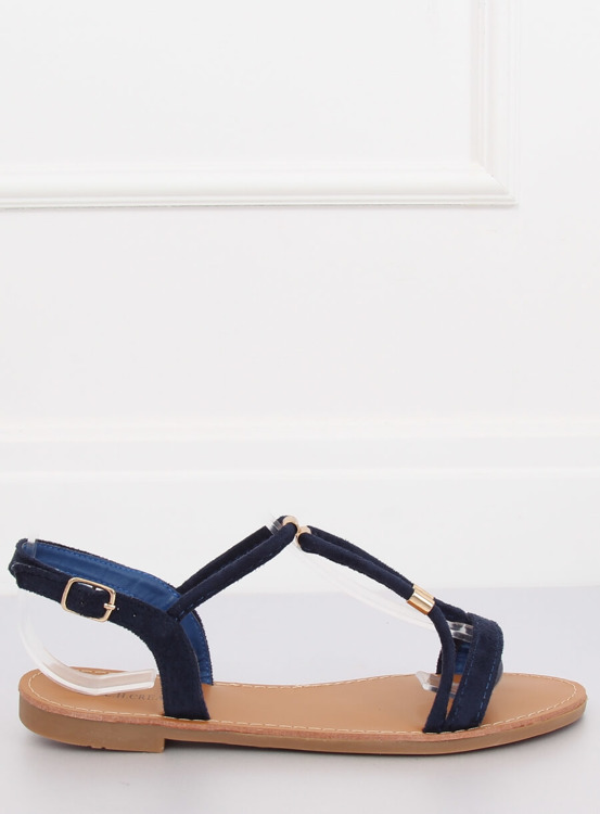 Sandałki damskie granatowe L520 BLUE