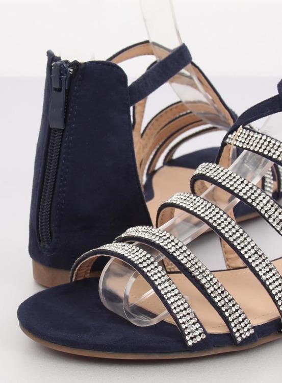 Sandałki damskie granatowe LL6339 BLUE