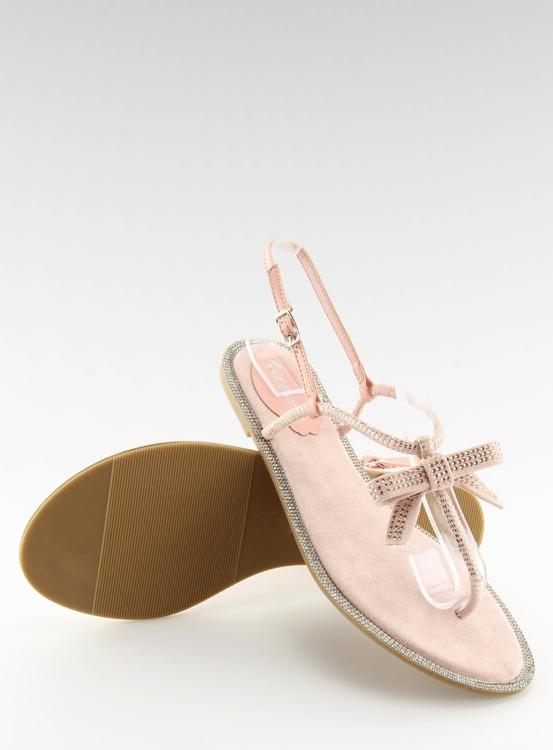 Sandałki damskie japonki różowe 17715 ROSA