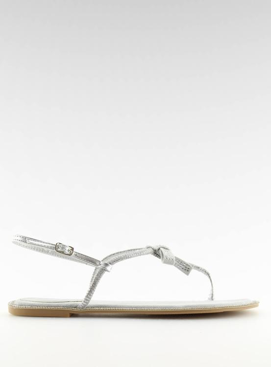 Sandałki damskie japonki szare 17715 GRIGIO