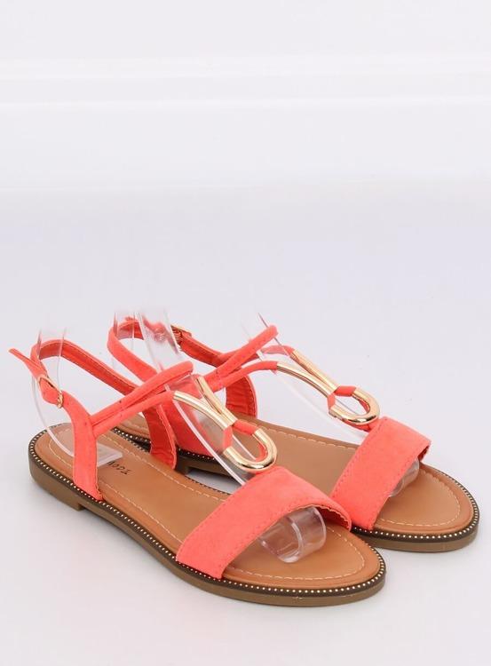 Sandałki damskie koralowe WL024 FUSCHIA