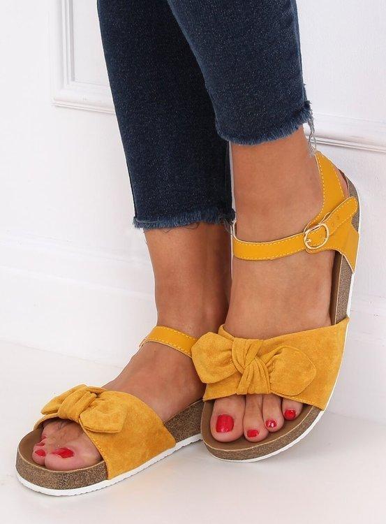 Sandałki damskie miodowe TL8-2 YELLOW