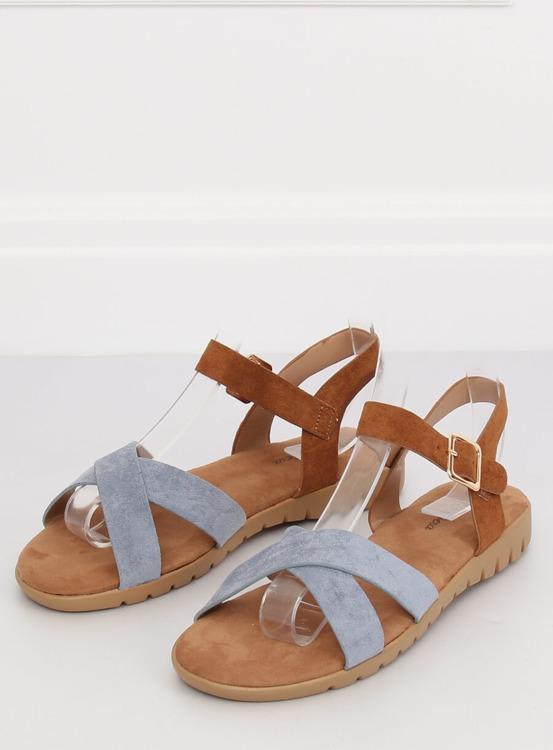 Sandałki damskie niebieskie 999 BLUE