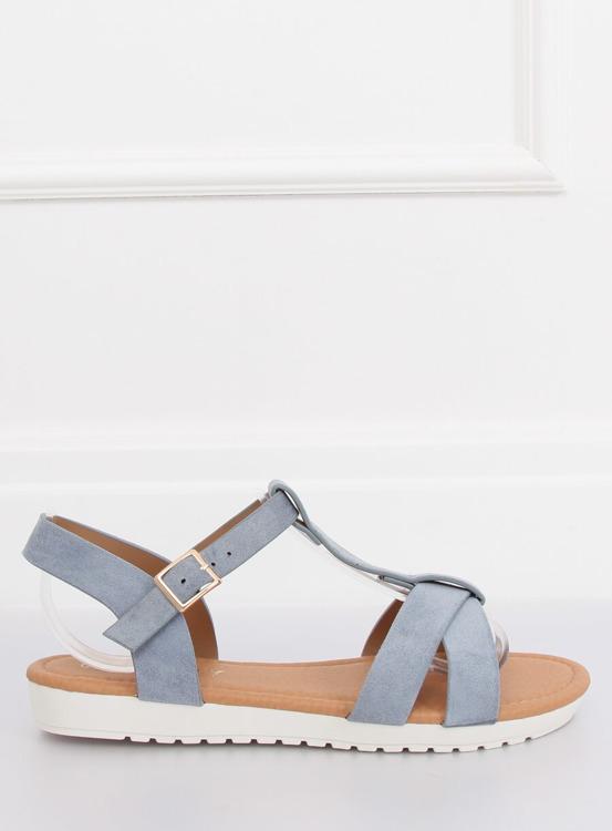 Sandałki damskie niebieskie X567 DENIM BLUE