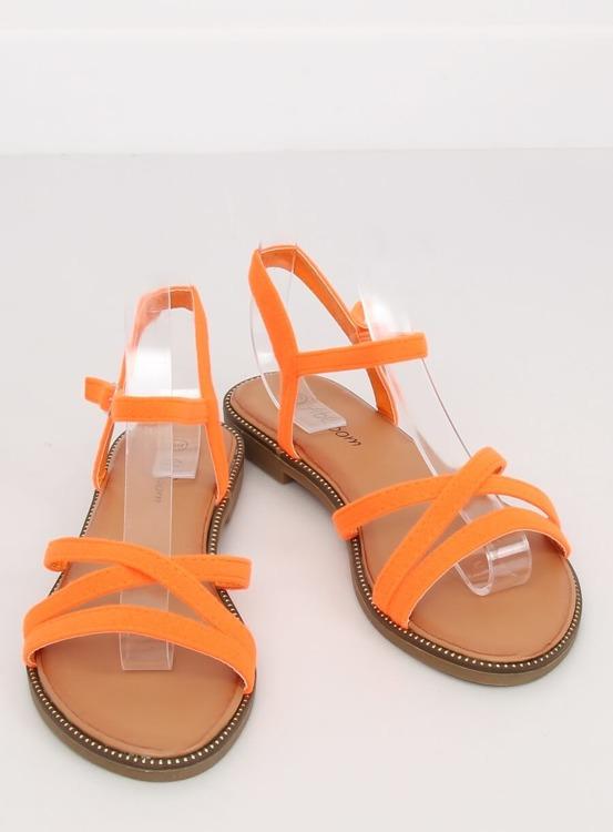 Sandałki damskie pomarańczowe WL255 ORANGE