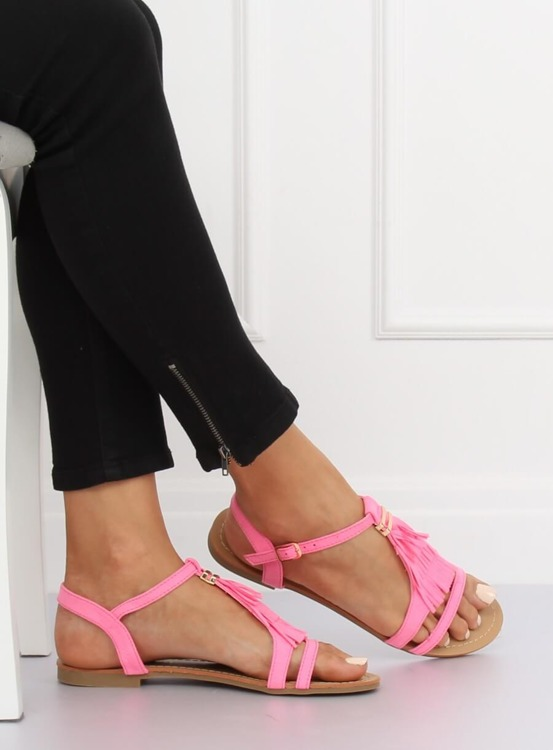 Sandałki damskie różowe 1-51 FUSHIA