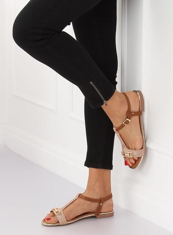 Sandałki damskie różowe 127-97 PINK