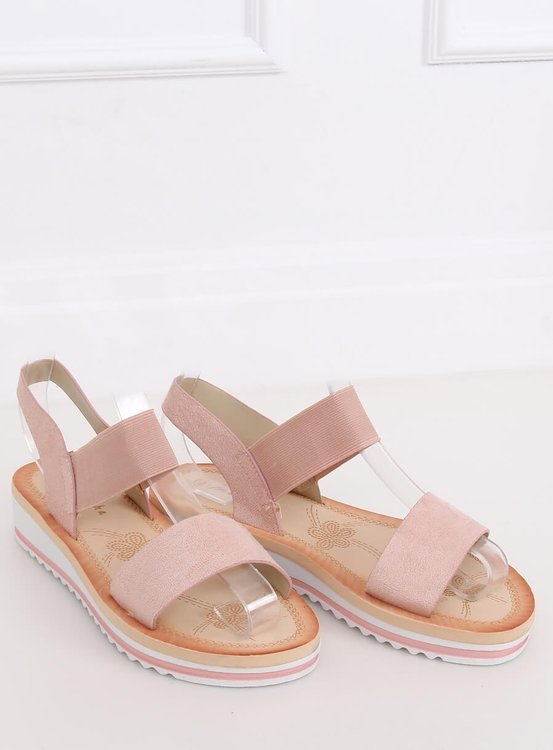 Sandałki damskie różowe E008 PINK