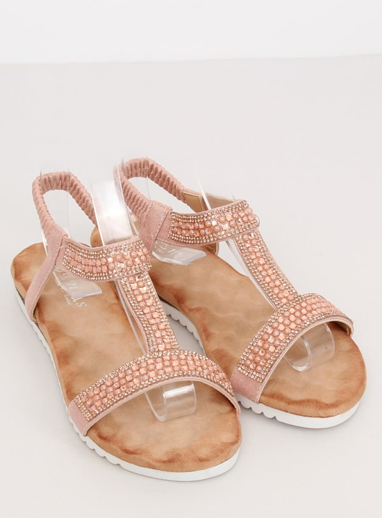 Sandałki damskie różowe HT-67 PINK