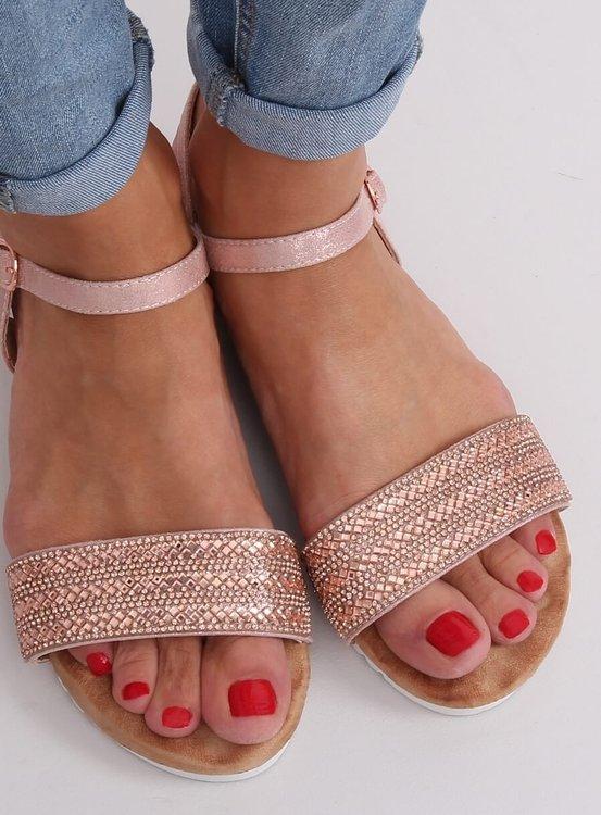Sandałki damskie różowe HT-69 PINK