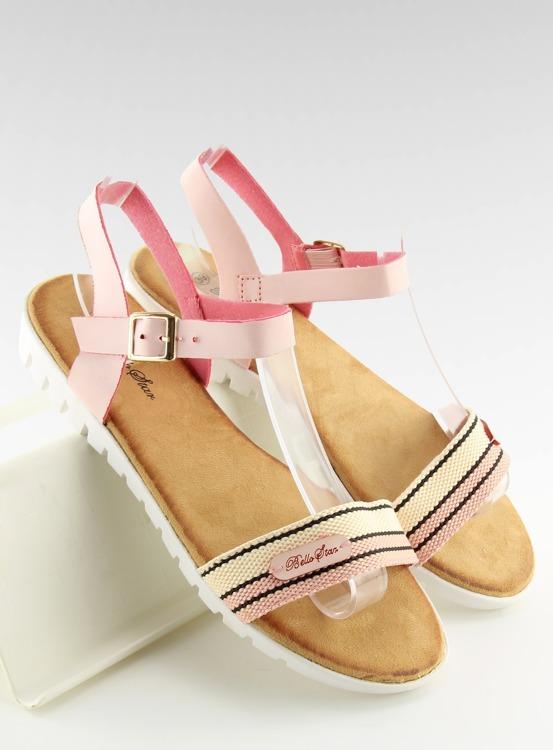 Sandałki damskie różowe S25 PINK