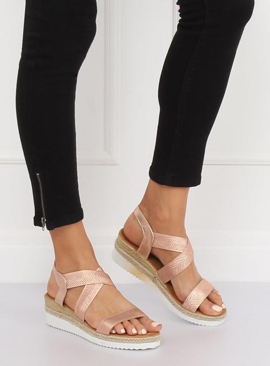 Sandałki damskie różowe S81 CHAMPAGNE