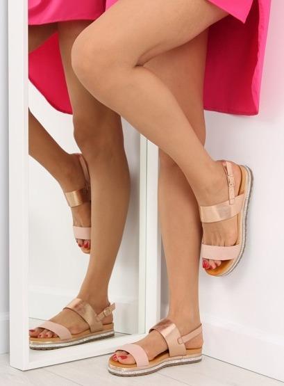 Sandałki damskie różowe SL88P PINK