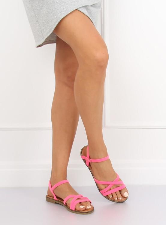 Sandałki damskie różowe WL255 FUSHIA