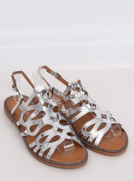 Sandałki damskie srebrne JY52 SILVER