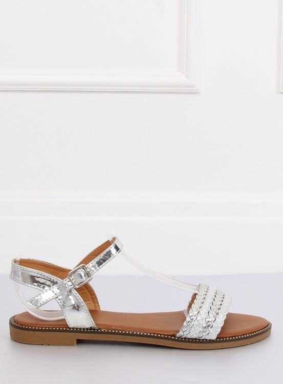 Sandałki damskie srebrne K-11 SILVER