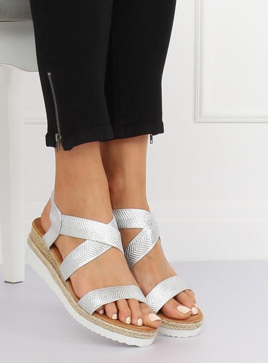 Sandałki damskie srebrne S81 SILVER