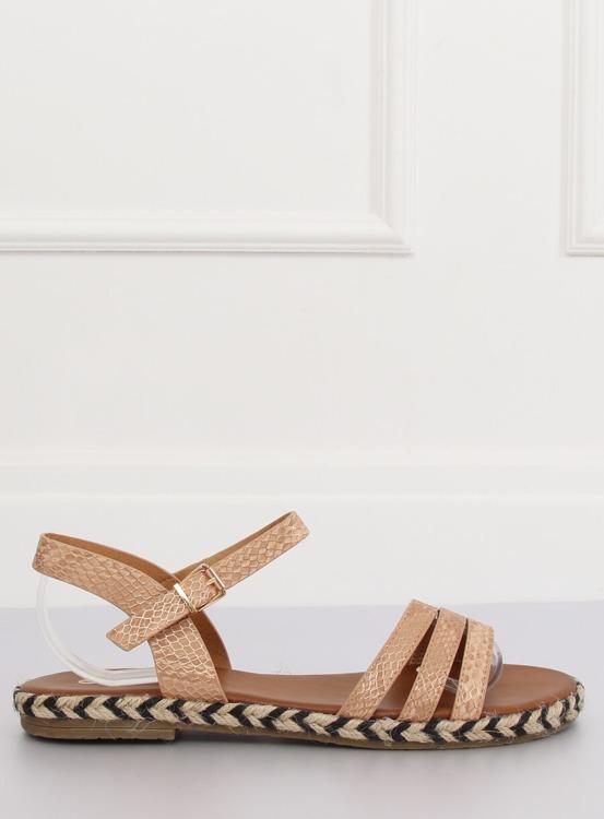 Sandałki damskie szampańskie M531 CHAMPAGNE