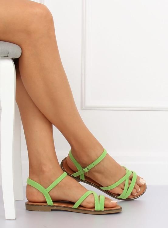 Sandałki damskie zielone WL255 GREEN
