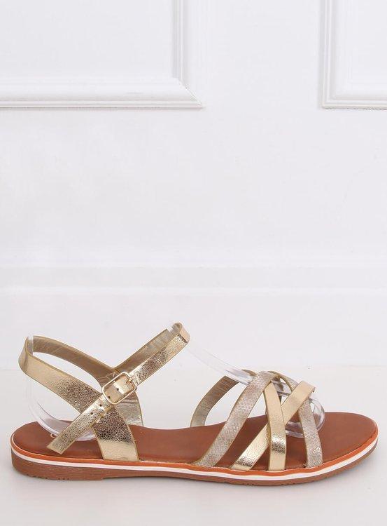 Sandałki damskie złote 99-62 GOLD
