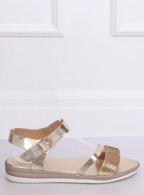 Sandałki damskie złote D-118 GOLD
