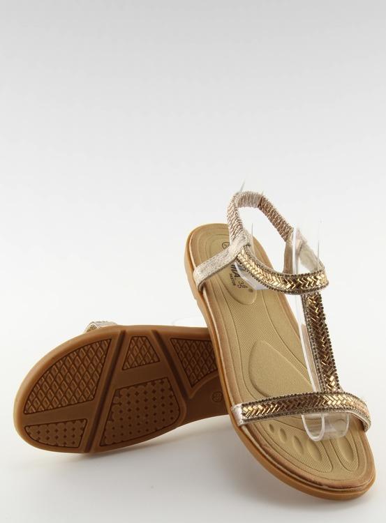 Sandałki damskie złote FM5035 LT.GOLD