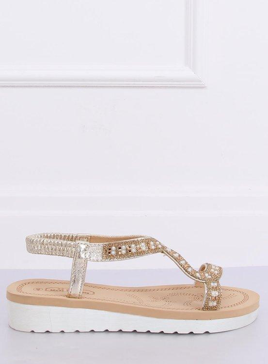 Sandałki damskie złote HD-129 GOLD